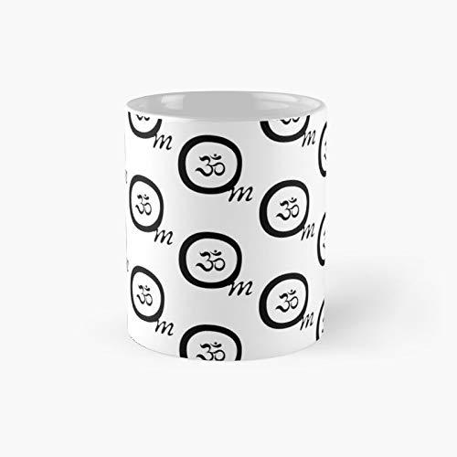 Taza clásica Om Sympole | El mejor regalo divertidas tazas de café de 325 ml
