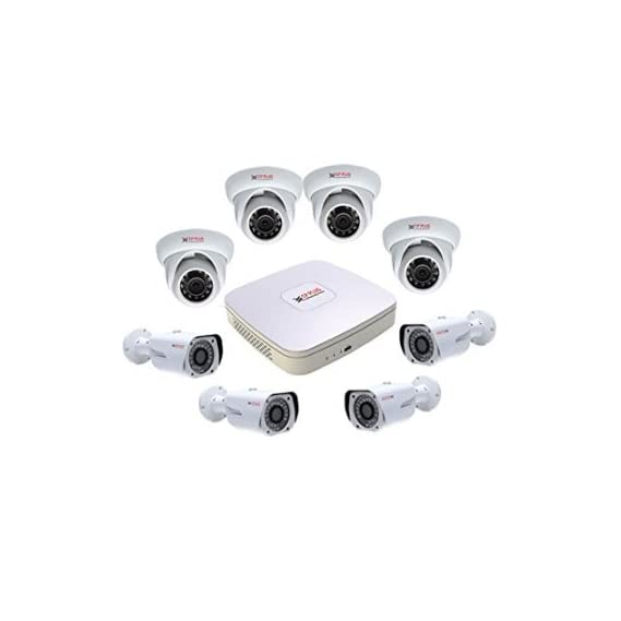 Cp Plus Cp-Plus Hdcvi 8 Ch Dvr and 4 Dom Ir and 4 Bullet Ir - 1 Mega Pixels Cctv Camera Surveillance System