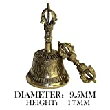 NOLOGO Yg-CT La meditación Budista Tibetano de Bell y Dorje Set Shiplies Extra sonoro Multiuso Mano la Llamada Bell (Color : Golden Large)