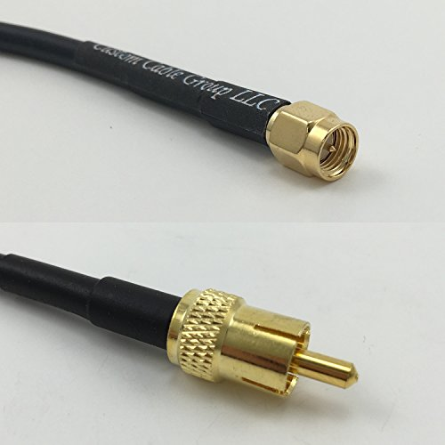 Find Discount 6 feet RG58 SMA Male to RCA Male Pigtail Jumper RF coaxial Cable 50ohm Quick USA Shipp...