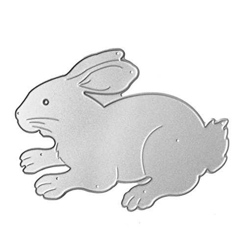 Anboo Chinese Zodiac Metal DIY Embossing Cutting Dies Stencil Scrapbooking Album Paper Card Art Craft (Rabbit)