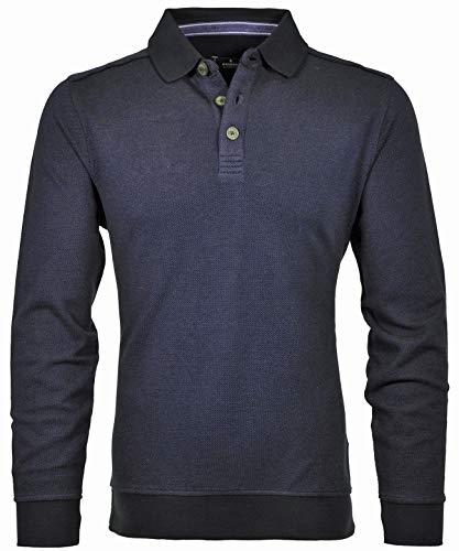 Ragman Herren Sweatshirt mit Polokragen