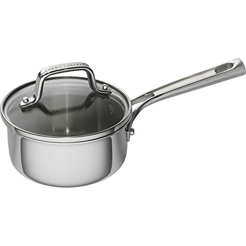 Emeril Lagasse 62854 Stainless Steel Saucepan, 1 quart, Silver