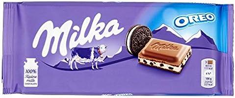 Milka Oreo - Tierno Chocolate con Leche de los Alpes y Galletas Oreo - Tableta de 100 g