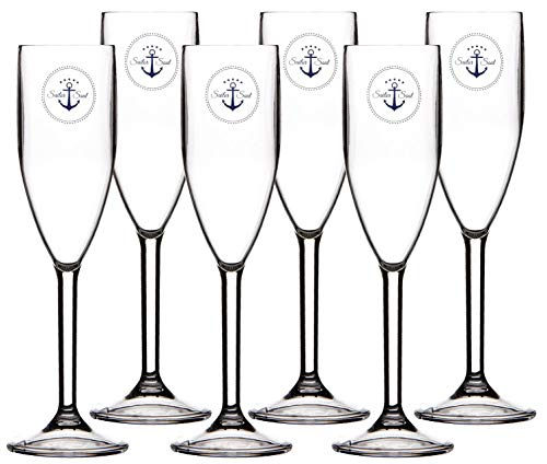 Marine Business Sekt Champagner Glas Set 6 Stück, unzerbrechlich - Sailor Soul