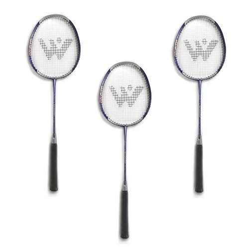 Rayline Sport Serie - 3er Set Badminton Schläger BD001 für Erwachsene (Farbe: Silber/Lila), Gesamtlänge: ca. 66 cm - Gewicht: 100g / passend für Anfänger und Gelegenheitsspieler