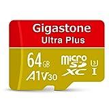 【5年保証】Gigastone Micro SD Card 64GB マイクロSDカード A1 V30 UHD 4K ビデオ録画 高速4Kゲーム 95MB/s マイクロ SDXC UHS-I U3 C10 Class 10 メモリーカード Nintendo Switch 動作確認済 SD 変換アダプタ付 w/adaptor