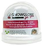 Snowglobe for You 50000 - Bola de nieve con fotografía y base transparente (9 cm)