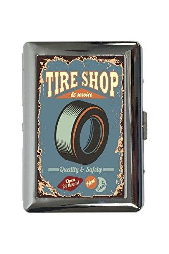 Zigarettenetui Box Werkstatt Motiv Reifen-Shop Bedruckt