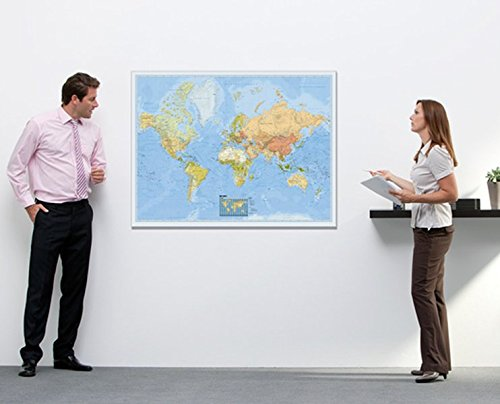 BACHER Politische Weltkarte