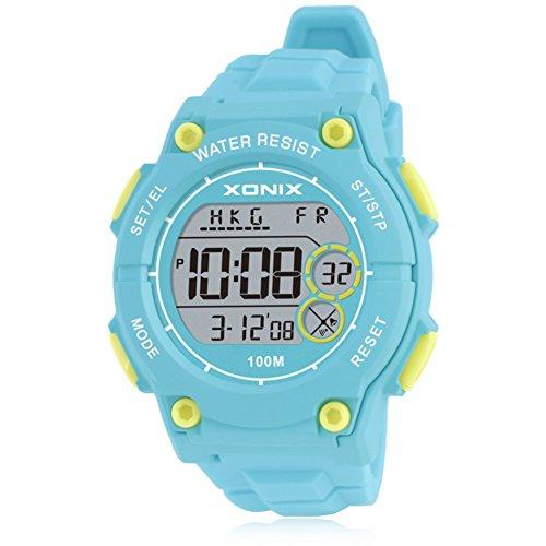 LEDNiños Impermeable Infantil Luminoso Piscina Reloj Digital-A