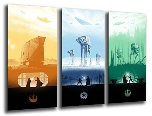 Cuadros Camara Fotográfico Star Wars, Darth vader Tamaño total: 97 x 62 cm XXL, Multicolor