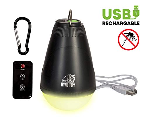 Ryno Tuff Camping Lights - Tent Light with Remote Control, USB Rechargeable Ultra Bright LED Lamp with Mosquito Repellent Yellow Light Option - Waterproof Lighting for Tents, Camping or Backpacking