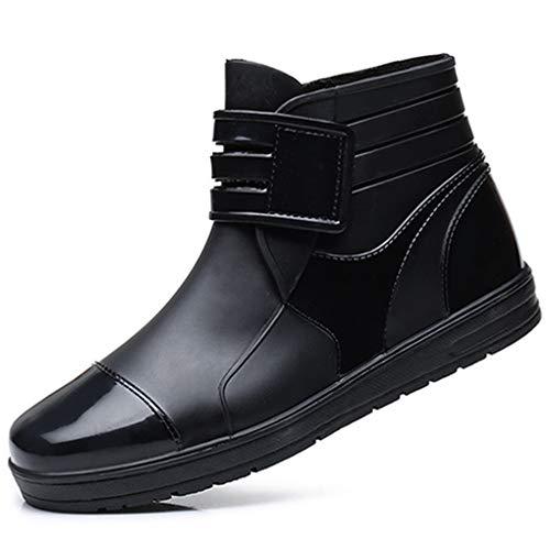 [イグル] レインブーツ メンズ サイドゴア 防水 通勤 通学 26.0cm 普段履き レインシューズ 長靴 雨靴 梅雨 カジュアルシューズ ガーデニングレインブーツ ラバーブーツ 作業靴 履きやすい 大人 梅雨 晴雨兼用 アウトドア 黒色