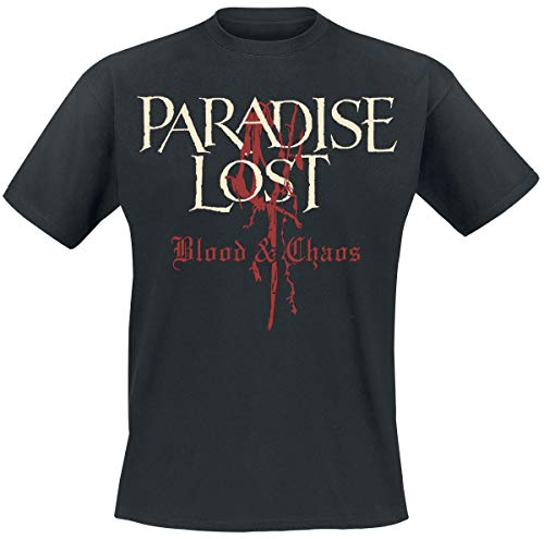 Paradise Lost T-shirt Blood and Chaos Band Logo New Officieel heren