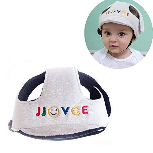 Sombrero de Seguridad para Bebé, Infantil Protector de Cabeza Casco de Seguridad del Bebé Niño Sombrero de Protección Adjustable Arnés Gorra de Protección, Gris