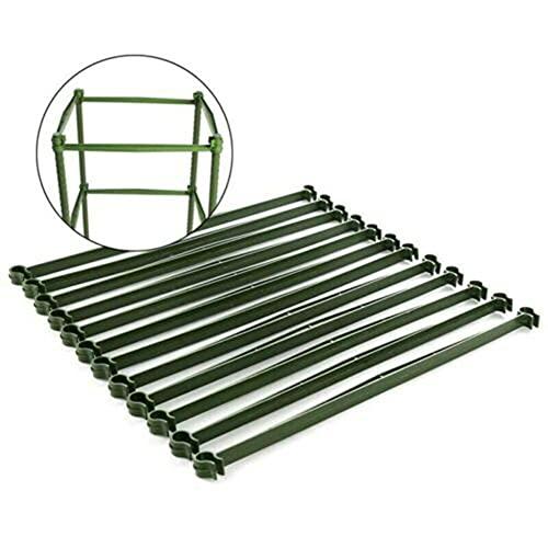 Dsleep 12 conectores de enrejado para tomates, brazos, jaulas, plantas, de plástico, duradero, para jardín