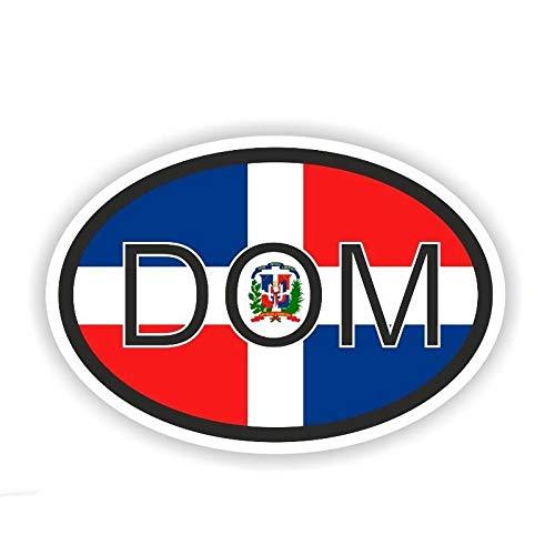 Etiquetas de coche Personalidad República Dominicana Calcomanía Código De País Ventana De Parachoques De Coche Maleta De Pared Calcomanía Calcomanía Calcomanías Decoración De Bricolaje