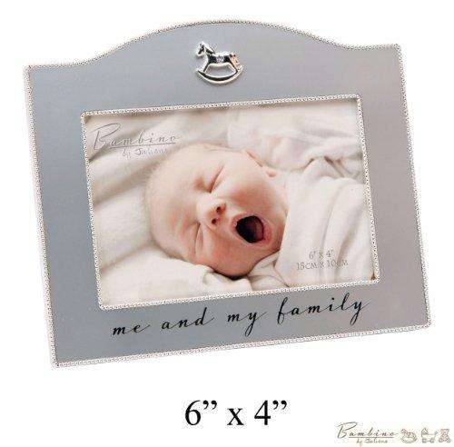 Bambino Baby Christening Gifts. silverplated Cadre photo \