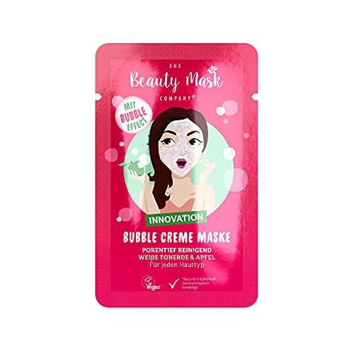 THE Beauty Mask Company Weiße Tonerde & Apfel Creme Maske, 1 Sachet (10 ml), in Rosa, tiefenpflegende Gesichtsmaske für empfindliche Haut, Wellness für zuhause, vegan