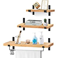 3-Piece Vearmoad Solid Wood Wall Storage Shelves