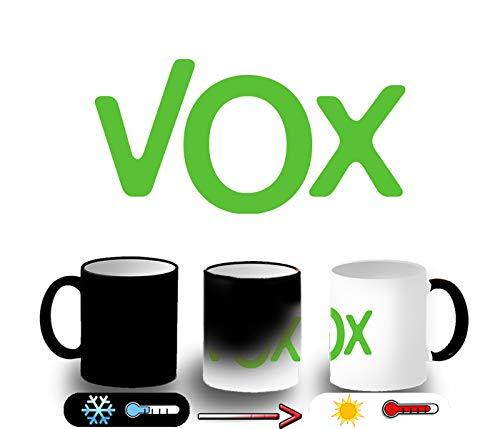 MERCHANDMANIA Taza MÁGICA Logo Partido VOX Magic mug