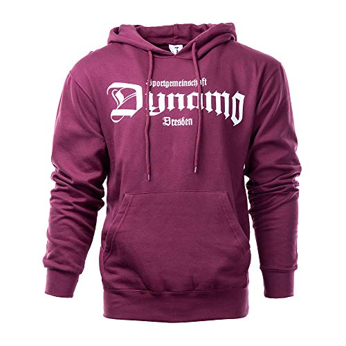 SG Dynamo Dresden Kapuzensweater Old School weinrot, Größe:S