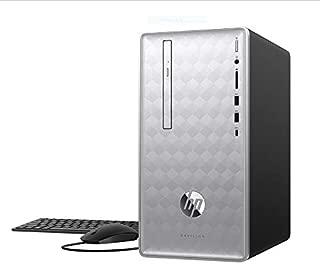 Latest_HP Pavilion Desktop, Intel i5-8400, 8GB RAM, 1TB HDD, NVIDIA GeForce GTX 1050, DVD R/W, Media Card Reader, 4×USB 3.1, 1×USB 3.1 Type-C, HDMI, VGA, DVI, DisplayPort, Mouse & Keyboard