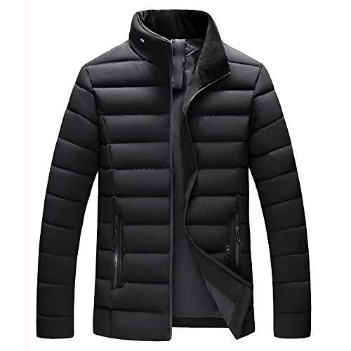 MIRRAY Herren Jungen Jacken Beiläufiger Warmer Stehender Kragen Dünne Winter Zip Mantel Outwear Spitzenbluse Wein/Schwarzes/Grün/Blau