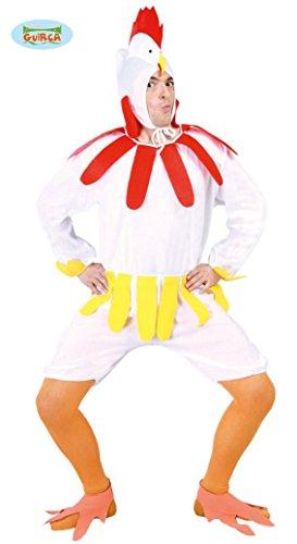 Guirca- Costume da Gallo Gallina, Colore Bianco, Taglia Unica, 80605