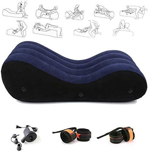 Canapé Multifonctionnel Gonflable Jouant Un Rôle Chaise Longue De Yoga -Coussin Magique Portable Oreiller Corps Pente