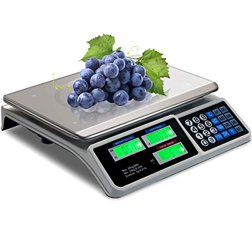 Goplus 66 LB Deli Scale Price Computing Commercial Food Produce Electronic Counting Weight (Silver)