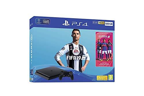 Sony PlayStation 4 Slim 500GB Console with FIFA 19 – Black