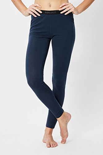 super.natural W BASE TIGHT 175 Femme, Bleu marine, L (Taille fabricant: L)