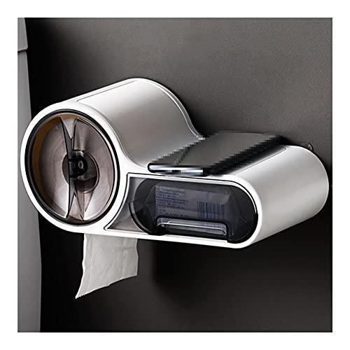 ZSP Dispensador de Toallas de Papel de Rollo, dispensador de Toallas de Papel, dispensador de Toallas múltiples para baño, Cocina (Color : Natural)
