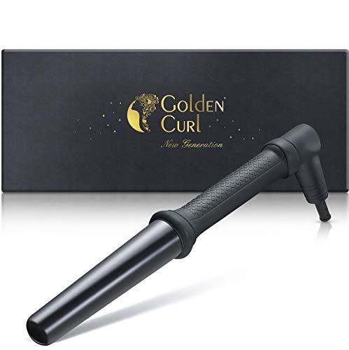 Golden Curl Bambino Rizador de Pelo Profesional Rizos Grandes - Hierro Styler Ondulador para Todo Tipo de Cabello 25 mm - 32 mm (Negro)