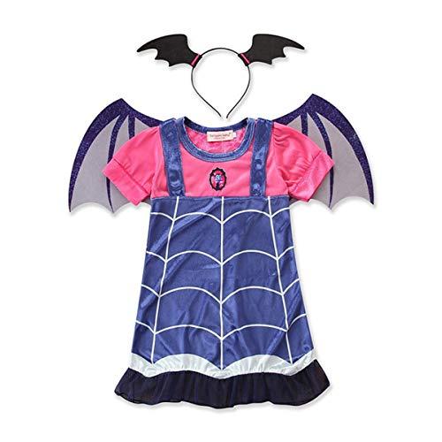 ZED jurk prinses vampier kostuum kinderen meisjes elegant Halloween kinderen Kerstmis Cosplay verjaardag prinses jurk feestjurk 140 cm  Oro rosa + oro rosa