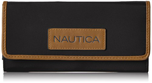 Nautica Women s Perfect Carry-All Money Manager RFID Blocking Wallet Organizer, Black