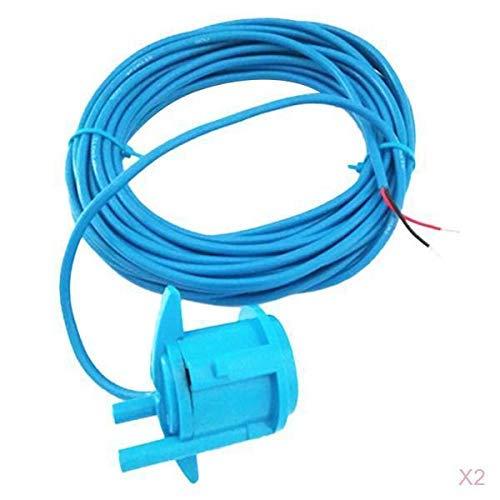 KAIBINY Válvula de 2xSolenoid válvulas for electrónico Leche Dosis Botella con 5m Cable for Vaca