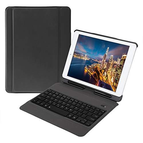 Estuche Colorido, retroiluminación, portátil, cómodo, Teclado, múltiples ángulos T210D para Oficina, hogar, Negocios, Viaje, Tableta(Black)