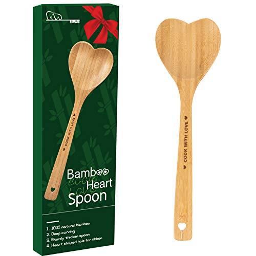 41IWvlnFdsL._SL500_ Heart Shaped Bamboo Spoon -