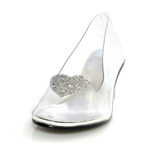 ELLIE SHOES - Ariel (Clear) Child Shoes - Small (11-12) - White