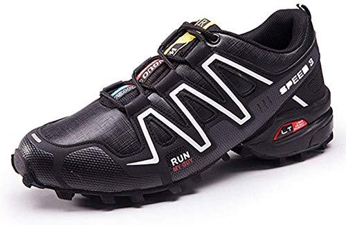 Ffggfgd Schuhe Fahrradschuhe für Männer und Frauen, Hilfsfahrradschuhe atmungsaktiv und rutschfeste, leichte Sportschuhe,Blackandwhite,41