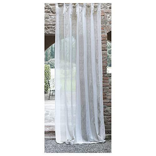 rideau blanc gris