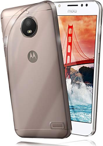 moex Aero Hülle kompatibel mit Motorola Moto E4 - Hülle aus Silikon, komplett transparent, Klarsicht Handy Schutzhülle Ultra dünn, Handyhülle durchsichtig einfarbig, Klar