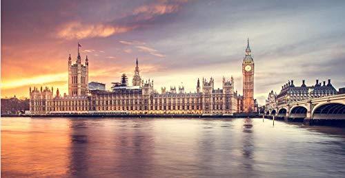Big Ben River Scenery En Londres Diy Puzzle Para Adultos