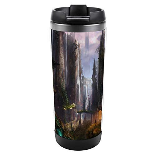 VinMea Sport Water Bottle Stainless Steel Insulated Mug Waterfall Celtic Ruins Cup for Sports, Gym, Kids, Yoga, Outdoors, One Size