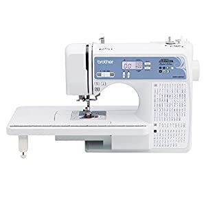 SYS Score: 9.3 Brother Computerized Sewing Machine, XR9550PRW, Project Runway Limited Edition, 110 Built-in Utility, LCD Screen, Hard Case, White