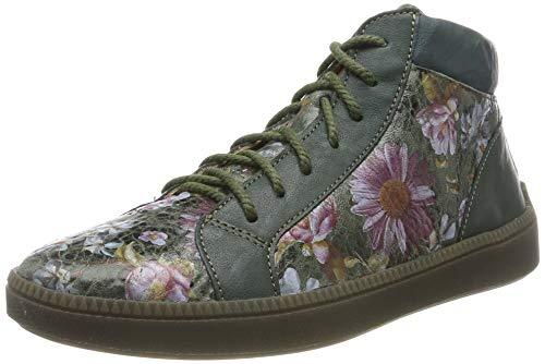 Think! Damen TURNA_585047 Hohe Sneaker, Mehrfarbig (Oliv/Kombi 63), 41 EU
