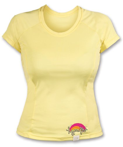 Hyperflex Damen Kurzarm Wassershirt, Damen, Sunshine, 14